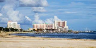 Biloxi, Mississippi, kasino och byggnader royaltyfri foto