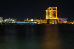 Biloxi, Mississippi Skyline. Night Skyline of Biloxi, Mississippi stock image