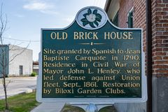 Old Brick House sign royalty free stock photography