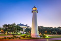 Biloxi, Mississippi, USA. Light House stock photo