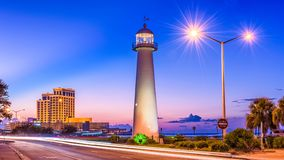 Biloxi, Mississippi, USA. At Biloxi Lighthouse stock photo