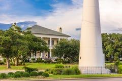 Biloxi, Mississippi USA at Biloxi Lighthouse stock images