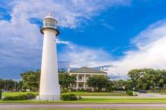 Biloxi, Mississippi USA at Biloxi Lighthouse royalty free stock photo
