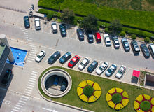 bilparkering Arkivbild