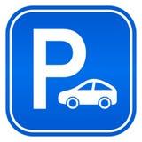 Bilparkeringstecken royaltyfri illustrationer