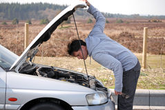 bilproblem Arkivfoto