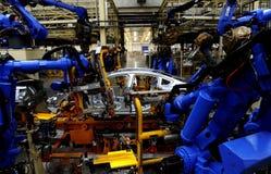 bilproduktion Arkivfoto