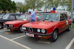 Bilräddningsaktion BMW 5 serie (E12), och (E28) Arkivbild