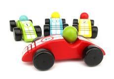 bilracen toys trä Fotografering för Bildbyråer