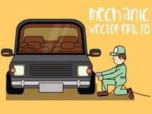 Bilreparation service för utbyte för bunkebilelevator lyftolja Royaltyfri Fotografi