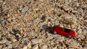 Bilresor på kiselstenar stock video