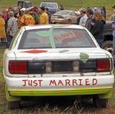 bilrivning derby som att gifta sig bara Royaltyfria Foton