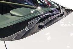 Bils torkare för vindrutaregn Royaltyfria Foton