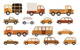 Bilsamling (retro färger) Fotografering för Bildbyråer