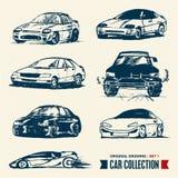 Bilsamling. Tecknande set 1. Royaltyfria Bilder