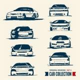 Bilsamling. Tecknande set 3. Arkivbild