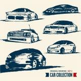 Bilsamling. Tecknande set 4. Arkivfoton