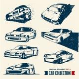 Bilsamling. Tecknande set 6. Arkivbilder