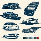 Bilsamling. Tecknande set 7. Arkivbilder