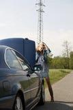 Bilsammanbrott Fotografering för Bildbyråer