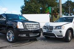 Bilsammanstötning royaltyfria bilder