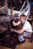 Bilservicestation Fotografering för Bildbyråer