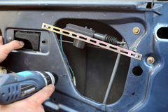 Bilserviceutförande arkivfoton