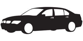 bilsilhouette stock illustrationer