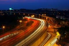 Bilslingaljus fotografering för bildbyråer