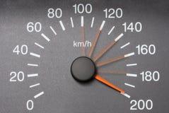 bilspeedometer Arkivfoto