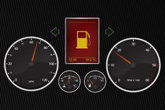 bilspeedometer stock illustrationer