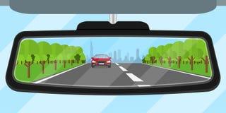 Bilspegel stock illustrationer