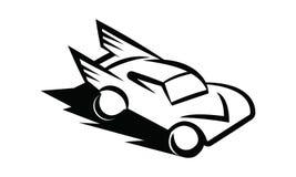Bilsportlogo royaltyfri illustrationer