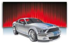 bilsportvektor Arkivbilder