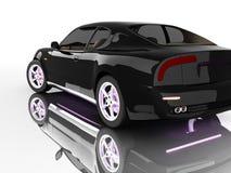 bilsportwhite Arkivfoton