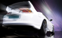 bilsportwhite Arkivbilder