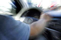 Bilstyrninghjul Royaltyfria Bilder