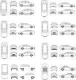 Bilsymbolsuppsättning Fotografering för Bildbyråer