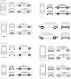 Bilsymbolsuppsättning Arkivbild