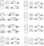 Bilsymbolsuppsättning Arkivbilder