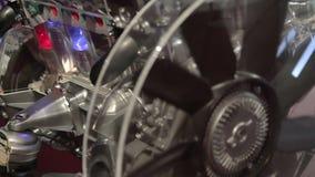 Biltillverkning. Motor. stock video