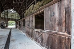 Biltmore庄园的谷仓 免版税库存图片