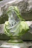 Biltmore Estate Bust. Closeup of a stone bust at Biltmore Estates Gardens in Asheville, North Carolina Stock Image
