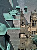 Biltmore House. Completed in 1895, a view of the roof of this American castle found in Asheville, North Carolina royalty free stock image