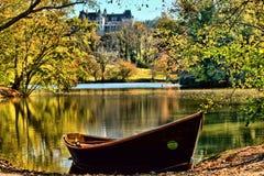 Biltmore jesień I Orvis Rowboat Fotografia Royalty Free