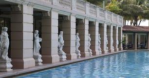 biltmore珊瑚fl山墙旅馆池 库存照片