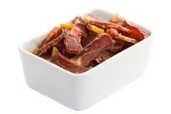 Biltongue-südafrikanischer getrockneter Fleisch-Imbiß lizenzfreie stockbilder