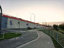 Biltrafik i Polen, Centraleuropa och Eastern Europe 2018 arkivfoto