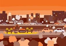 Biltrafikstockning Royaltyfri Foto