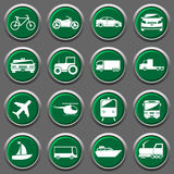 Biltransportsymboler vektor illustrationer